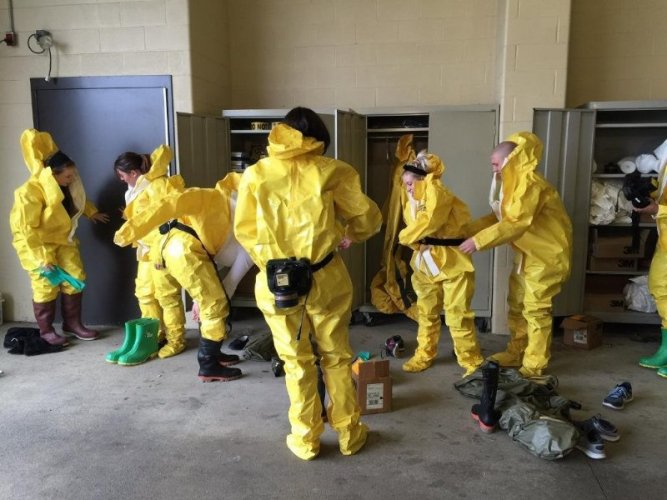 Scenes from my OSHA Hazmat Operations for First Receivers Class - Anderson, IN